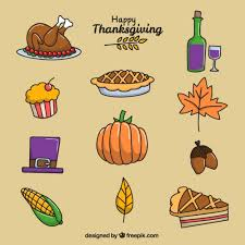 items for thanksgiving day vector free