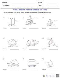 surface area of a cone worksheet worksheets