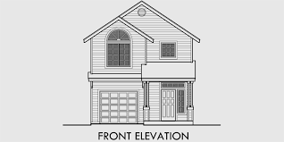 floor plans and elevations of houses narrow lot house plan small lot house plan 22 wide plan 9994