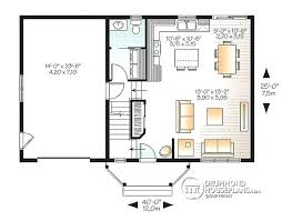 Detached Garage Apartment Floor Plans 1st Level Transitional Small Home With Functional Open Floor Plan