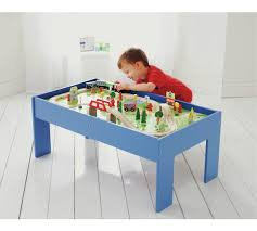 carousel train table set buy chad valley wooden table and 90 piece train set toy trains argos
