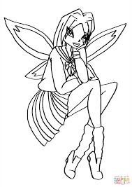 winx club schoolgirl fairy coloring page free printable coloring