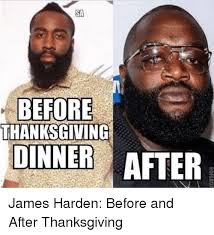 sa before thanksgiving dinner after harden before and after
