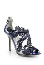 wedding shoes navy swarovski vintage court navy blue velvet lace