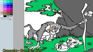 lion king online coloring pages rafiki and simba 81 youtube