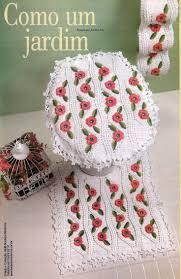 Crochet Bathroom Rug by 198 Best Bagno Uncinetto Images On Pinterest Carpets Crafts