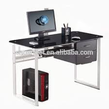bureaux en verre chaude moderne en verre bureau bureaux d ordinateur table modèles de