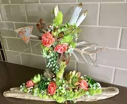 rustic arrow succulent centerpiece boho baby wedding decor baby