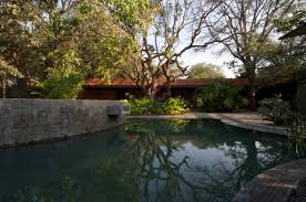 awesome pool ideas at brick kiln house design in small village
