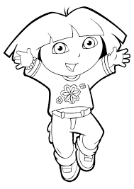 dora coloring pages for toddlers dora to color printable coloring pages free for kids with plans 9