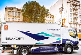 Renault Trucks U0026 Groupe Delanchy Unveil All Electric Refrigerated