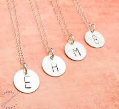 custom necklace charms initial necklace personalized necklace charm necklace silver