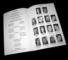 yearbook programs inside of the program wedding programming