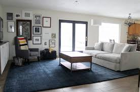 blue living room rugs large area rug for living room in dark blue color large area