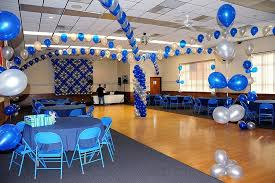 blue and silver balloon