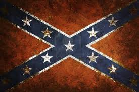 southern flag close up of confederate flag grunge background