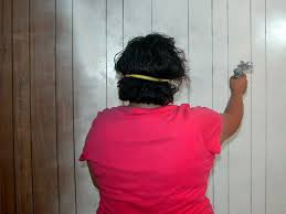 How To Paint Over Wood Paneling by Diy Painting Wood Paneling Wall Painting Appealing Modern