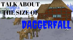 Map Size Comparison Talk About The Size Of Daggerfall Before I Walked The Whole Map