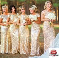 gold color bridesmaid dresses bridal dress mermaid gold shimmering sequin bridesmaid stretchy