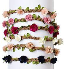 floral headband deluxe braided leather floral headband
