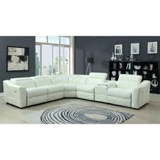 white leather electric recliner sofa ed off 2143 modern reclining