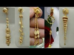 gold earrings design with weight light weight gold dangling earrings designs 2018