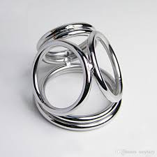 metal male rings images Stainless steel four rings cock ring metal penis ring male time jpg