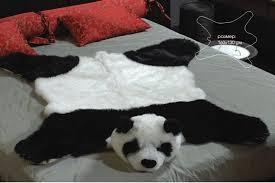 fake fur panda bear skin bearskin rug plush large size 63