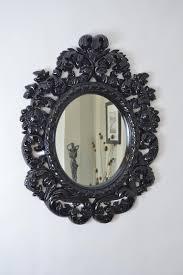 Decorative Framed Mirrors Oval Black Framed Mirror U2013 Harpsounds Co