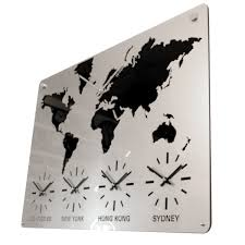 World Map Time Zone by Uk Personalised World Time Zone International Map Wall Clocks