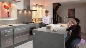 comptoir ciment cuisine béton ciré tout savoir sur le revêtment pour le sol les murs ou