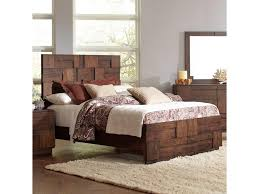 Wood Panel Bed Frame by Coaster Gallagher King Bed With Geometric Layered Wood Patterns