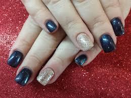 acrylic nail designs navy blue top stunning blue acrylic nails