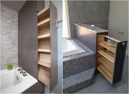 regale für badezimmer versteckte regale in schubladen für kleines bad lazienka