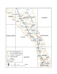 Map Of Iowa Counties Upper Cedar Watershed Management Improvement Authority Floyd