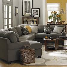 Gray Microfiber Sectional Sofa Charcoal Gray Sectional Sofa Foter House Plans Pinterest