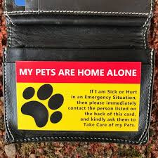 card for sick person pet home alone card is for emergency situations
