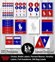 Polo Home Decor by 14 95 Polo Party Package Polo Printables Diy Polo Party