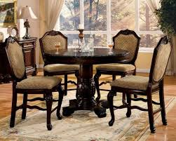 Dining Room Table Sales by Grand Traditional Pedestal Counter Height Table W 4 Upholstered
