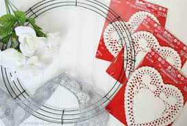 heart doilies paper heart doily wreath ella