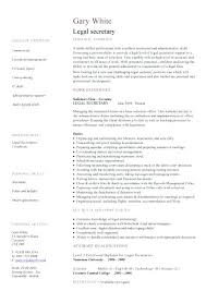 Resume For Legal Assistant Legal Secretary Resume Sample Legal Secretary Legal Secretary