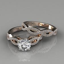 set rings round images Infinity design round cut bridal set rings puregemsjewels jpg