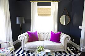Navy And Pink Curtains Navy Blue Curtains Design Ideas