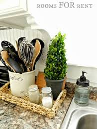 kitchen counter decor ideas this decor idea for a kitchen island or peninsula tray makes