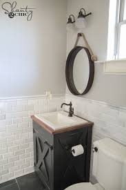 Build Bathroom Vanity Diy Farmhouse Bathroom Vanity Shanty 2 Chic