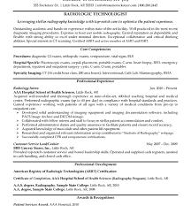 radiologic technologist resume skills sample resume for radiologic technologist resume example for a