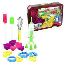 kit de cuisine enfant kit cuisine patisserie enfant silicone et plastique générique