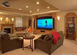 home design comfortable basement remodeling ideas with fireplace