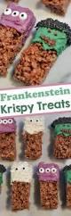 chocolate frankenstein krispy treats