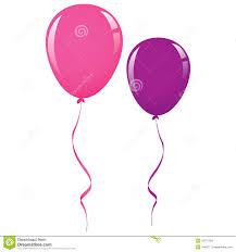 balloon ribbon vector pink and purple balloon ribbon stock image image 32797381